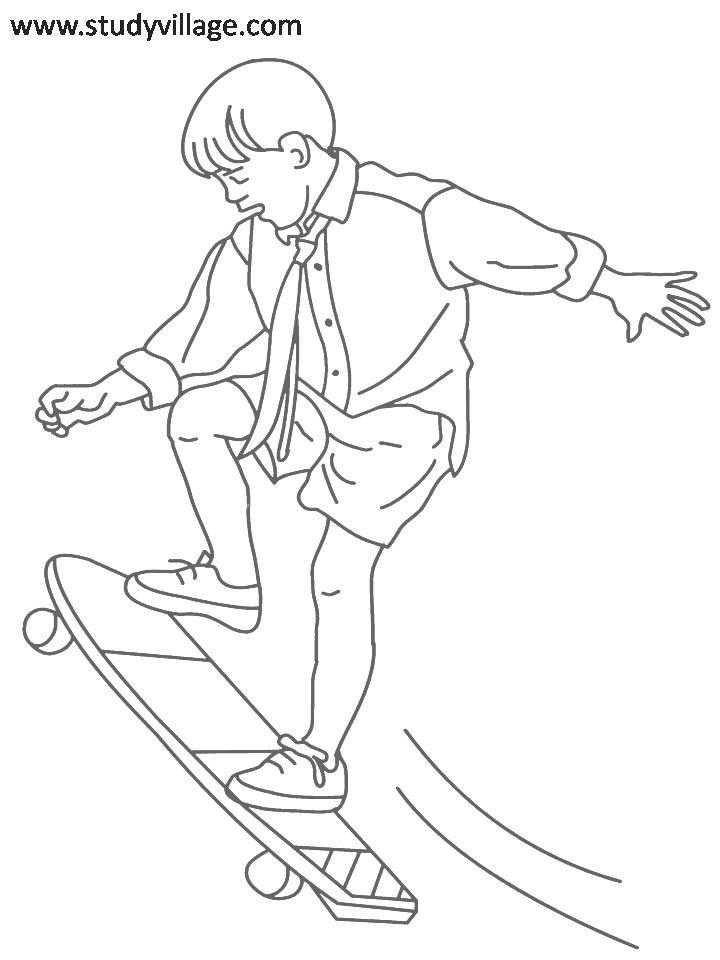 Coloring Pages For Summer Holidays : Summer holidays printable coloring page for kids 1