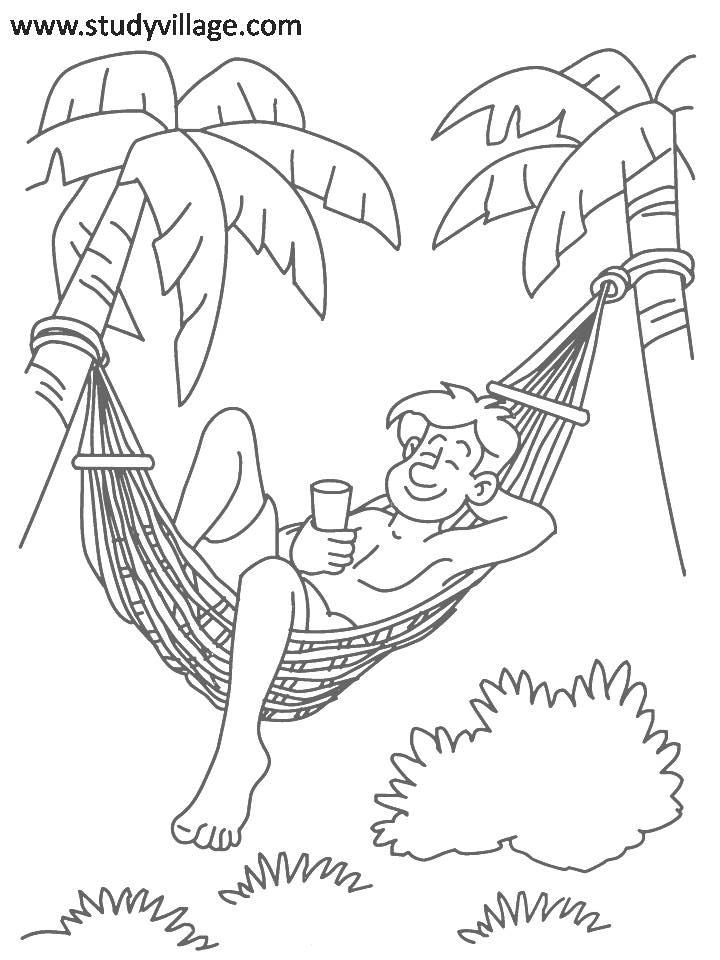 Summer Holidays printable coloring page for kids 2