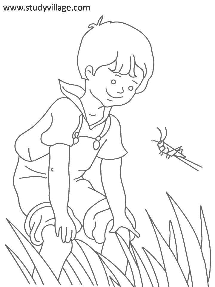 Coloring Pages For Summer Holidays : Summer holidays coloring page for kids 22