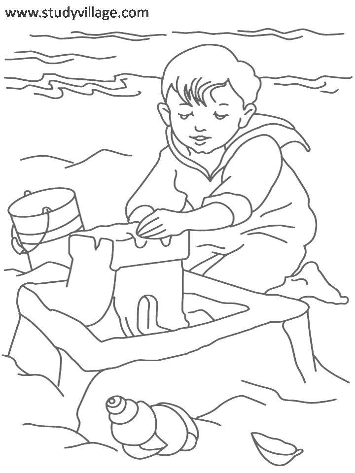 coloring pages summer holidays - summer holidays coloring page for kids 21