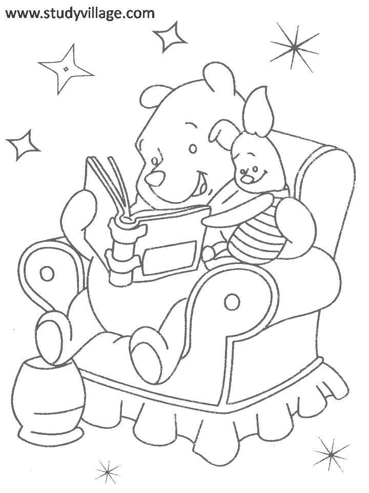 Owl Reading Book Coloring Sheet Coloring Pages
