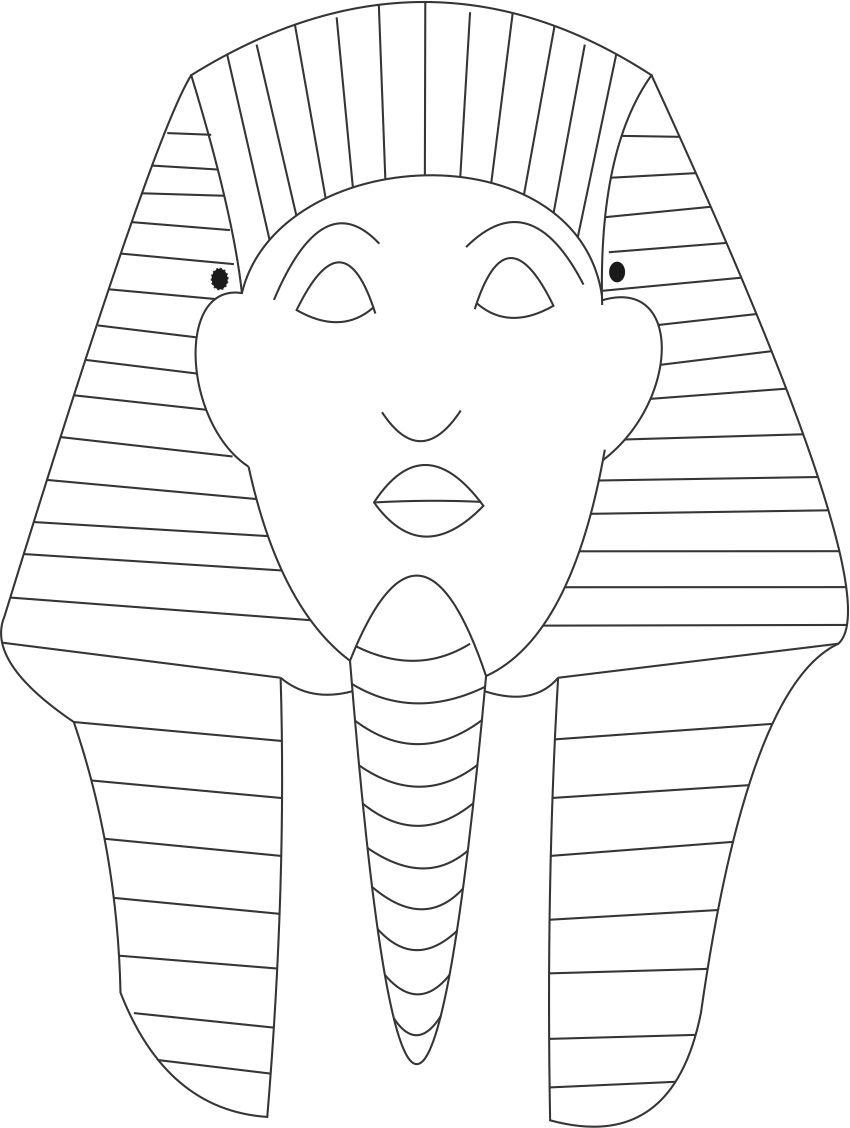 king tut mask template - free snake mask template coloring pages