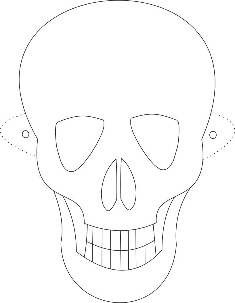 Ghost Mask Coloring Pages Mask Coloring Page