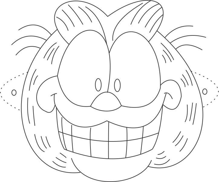 garfield face coloring pages - photo#13