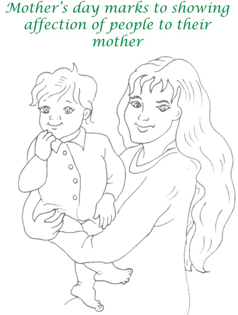 Mothers day printable coloring page for kids 1