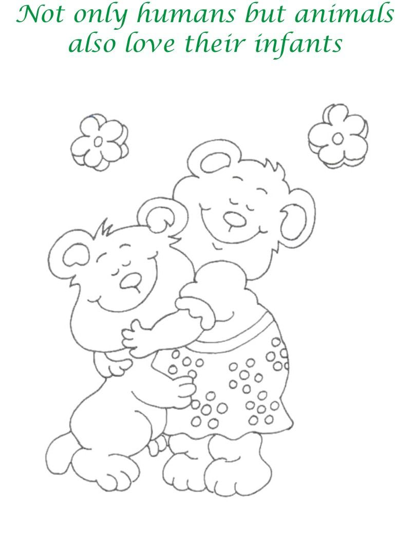 Mothers day printable coloring page for kids 4