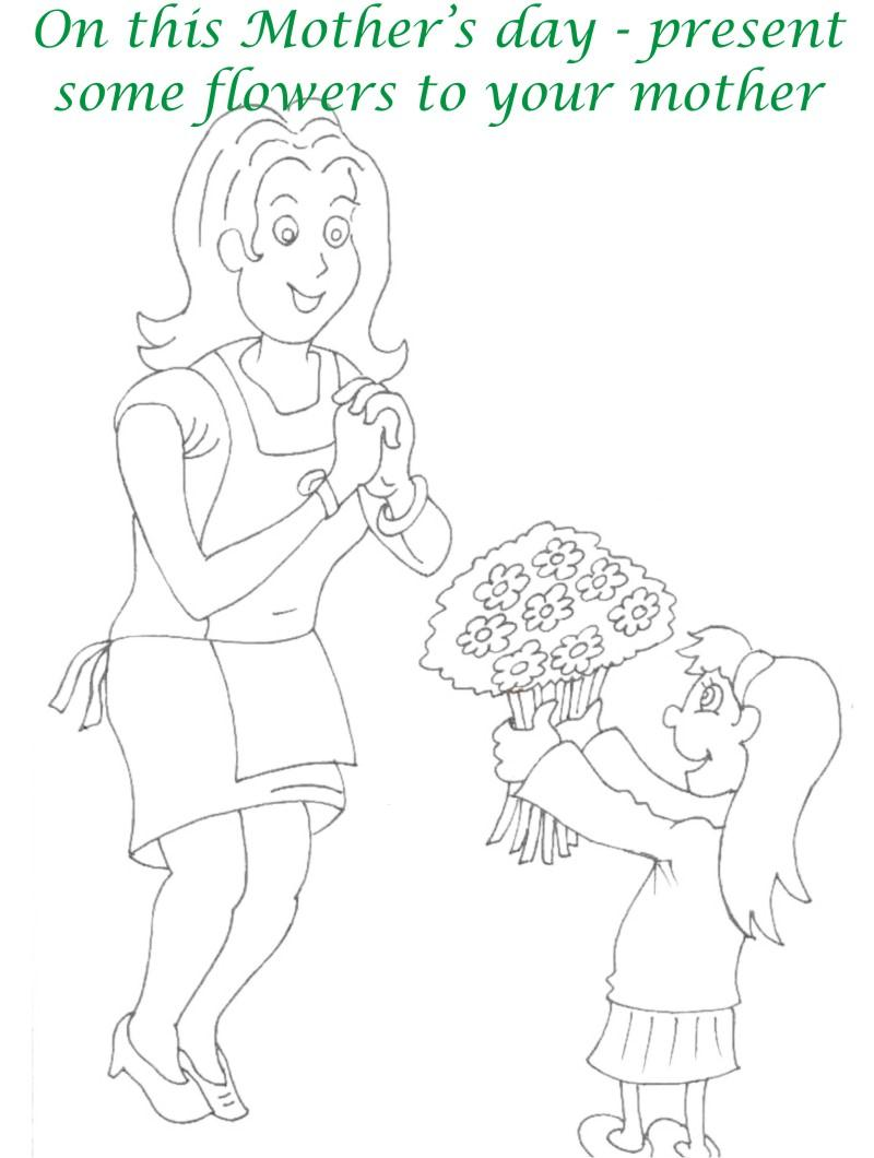 Mothers day printable coloring page for kids 6