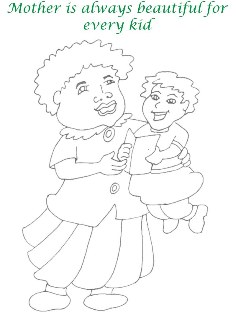 Mothers day printable coloring page for kids 7