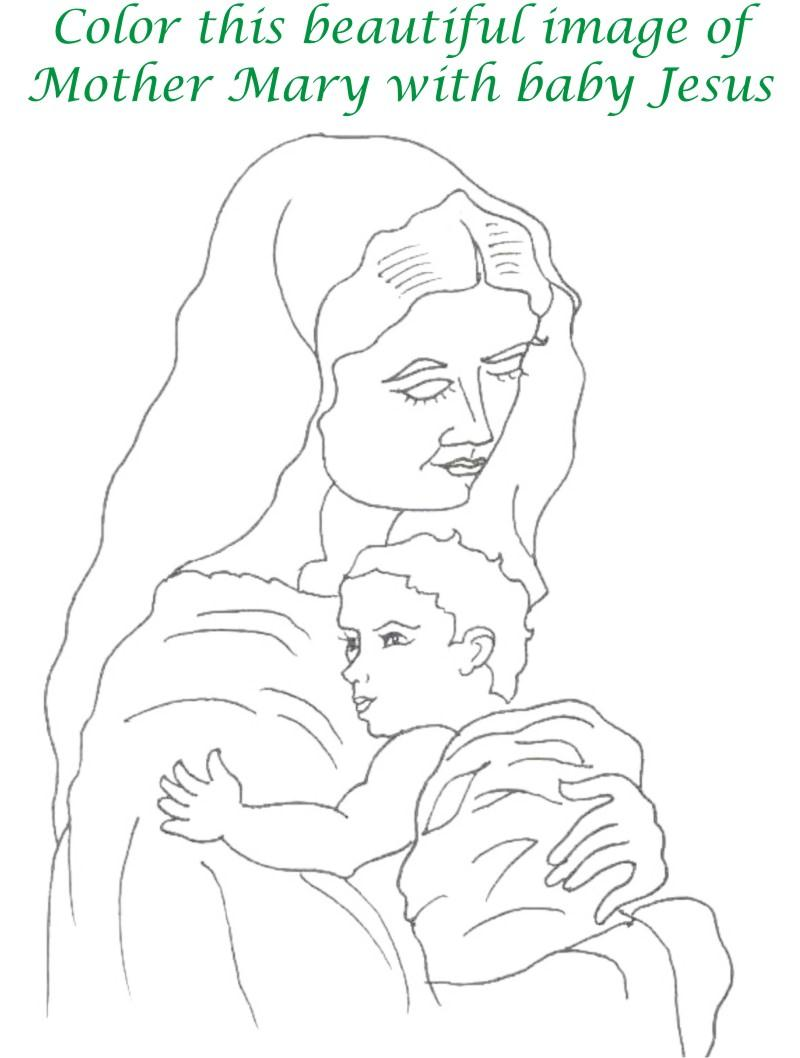 Mothers day printable coloring page for kids 11