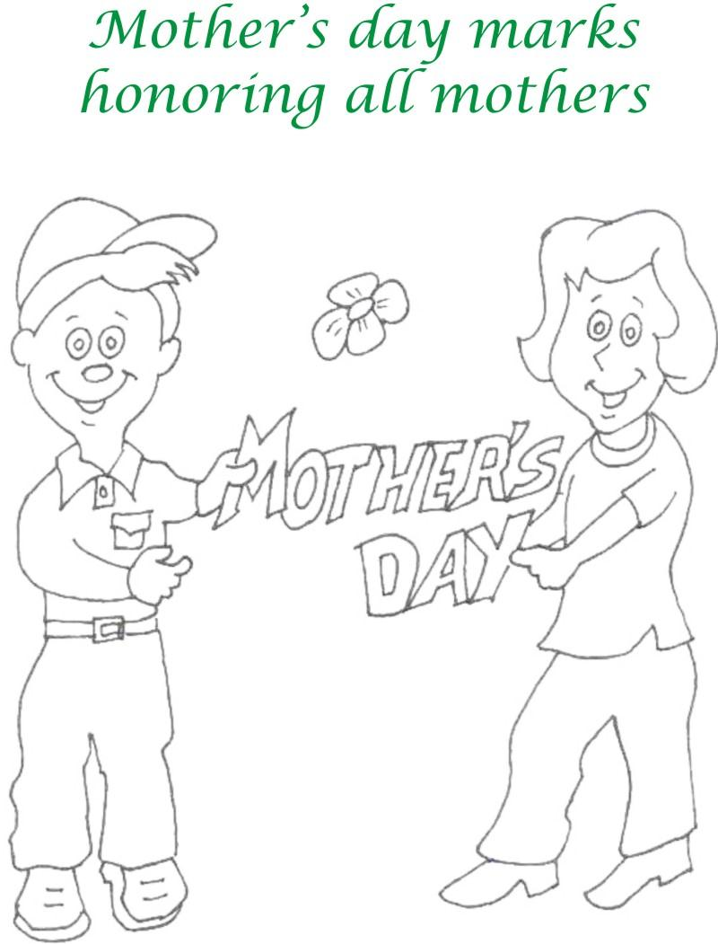 Mothers day printable coloring page for kids 12