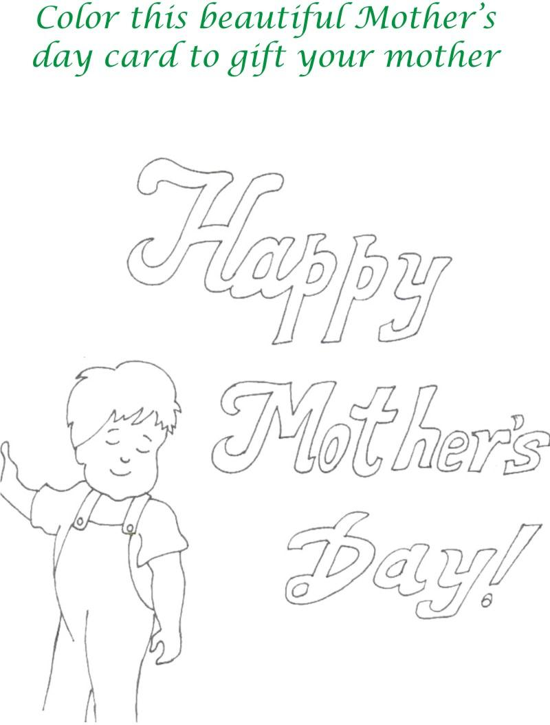 Mothers day printable coloring page for kids 13