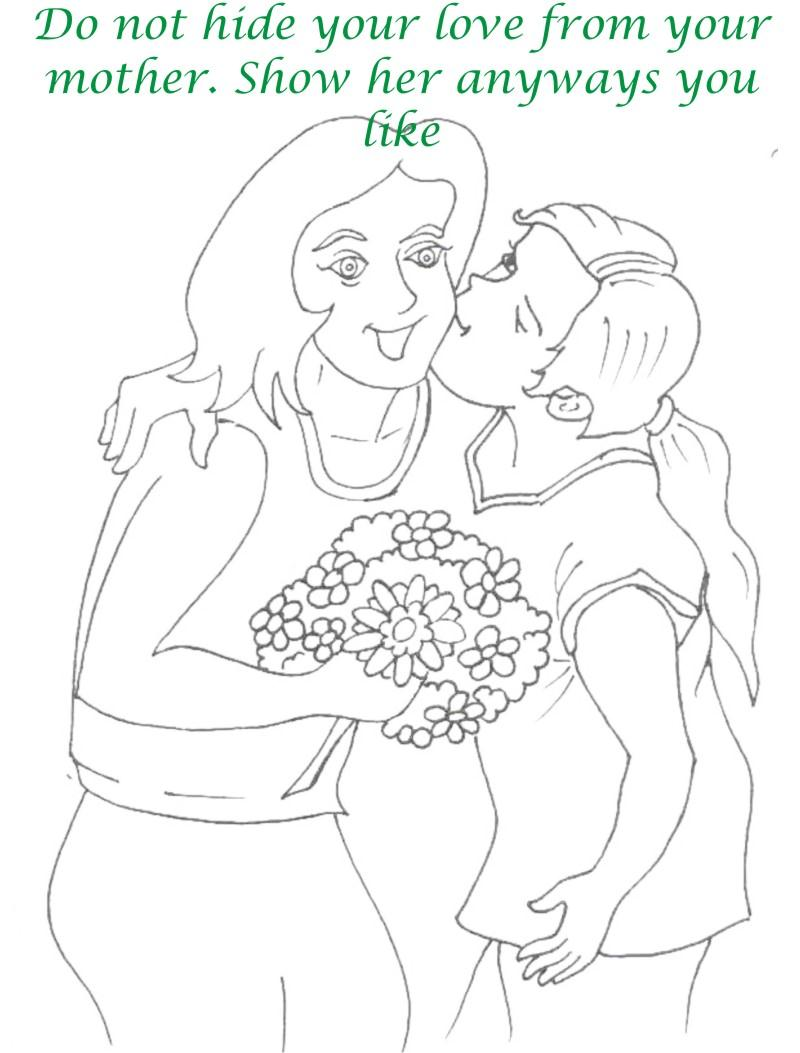 Mothers day printable coloring page for kids 14