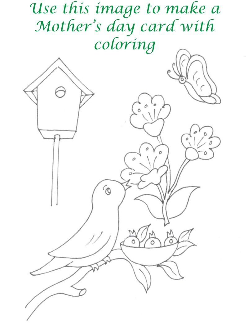 Mothers day printable coloring page for kids 22