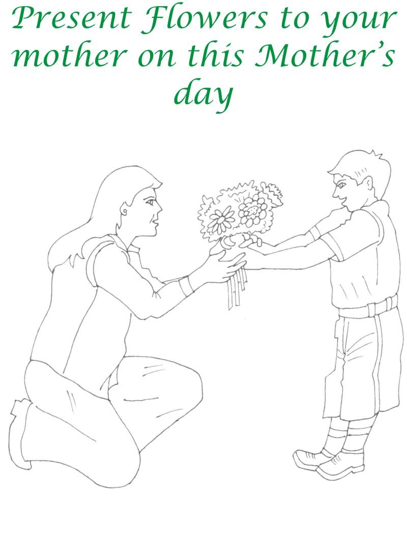 Mothers day printable coloring page for kids 23