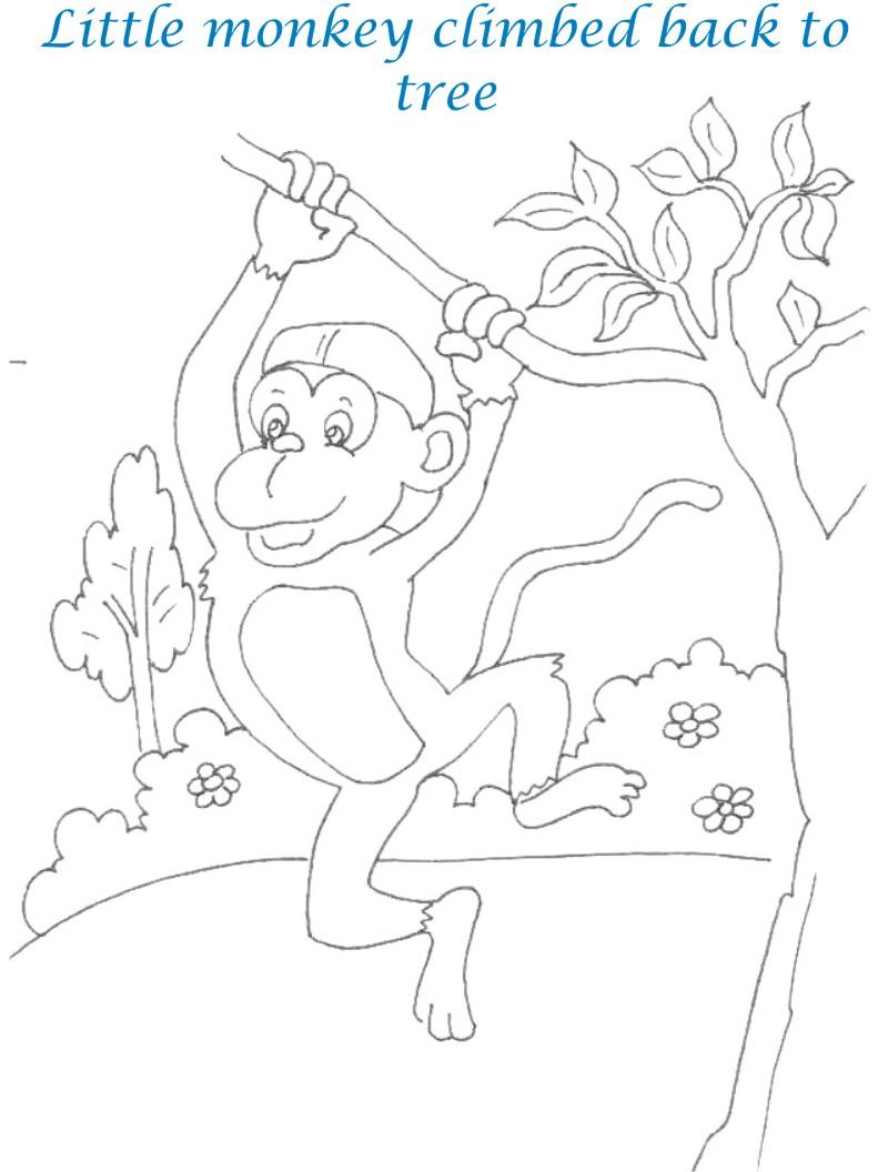Cap seller story coloring page for kids 12