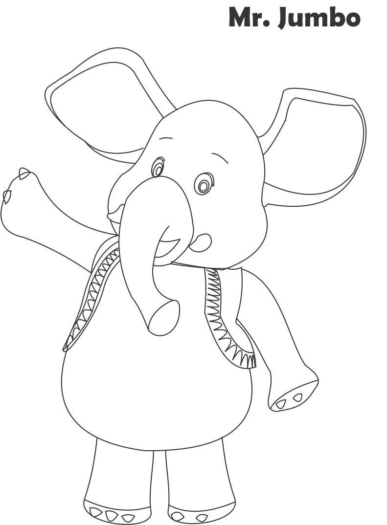mr jumbo printable coloring page for kids - Jumbo Coloring Pages
