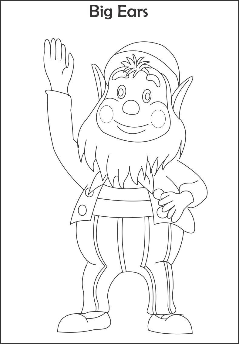 Big Ears Printable Coloring Page For Kids