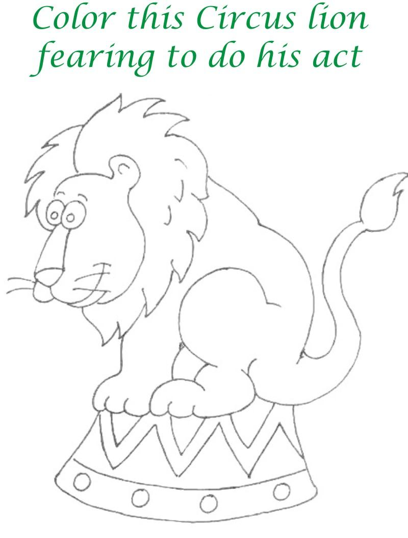Circus printable coloring page for kids 13