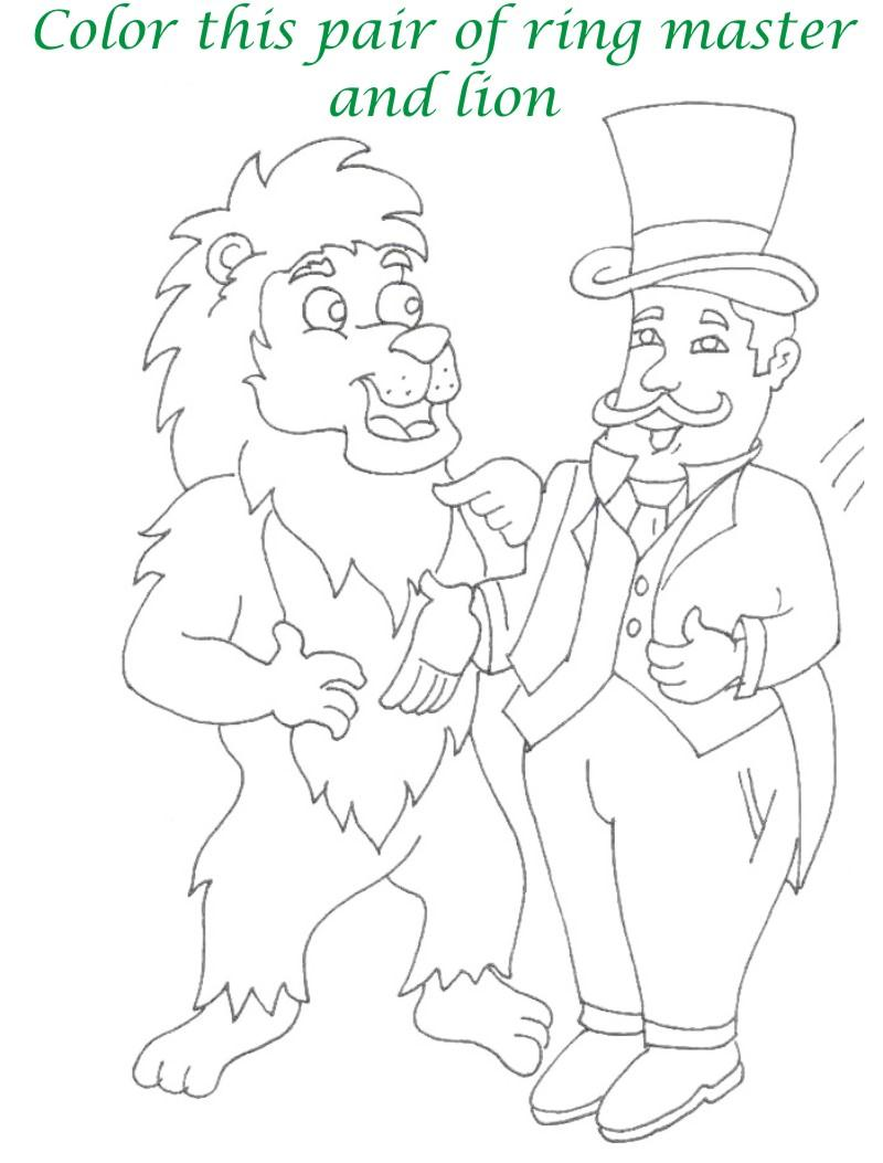 Circus printable coloring page for kids 17