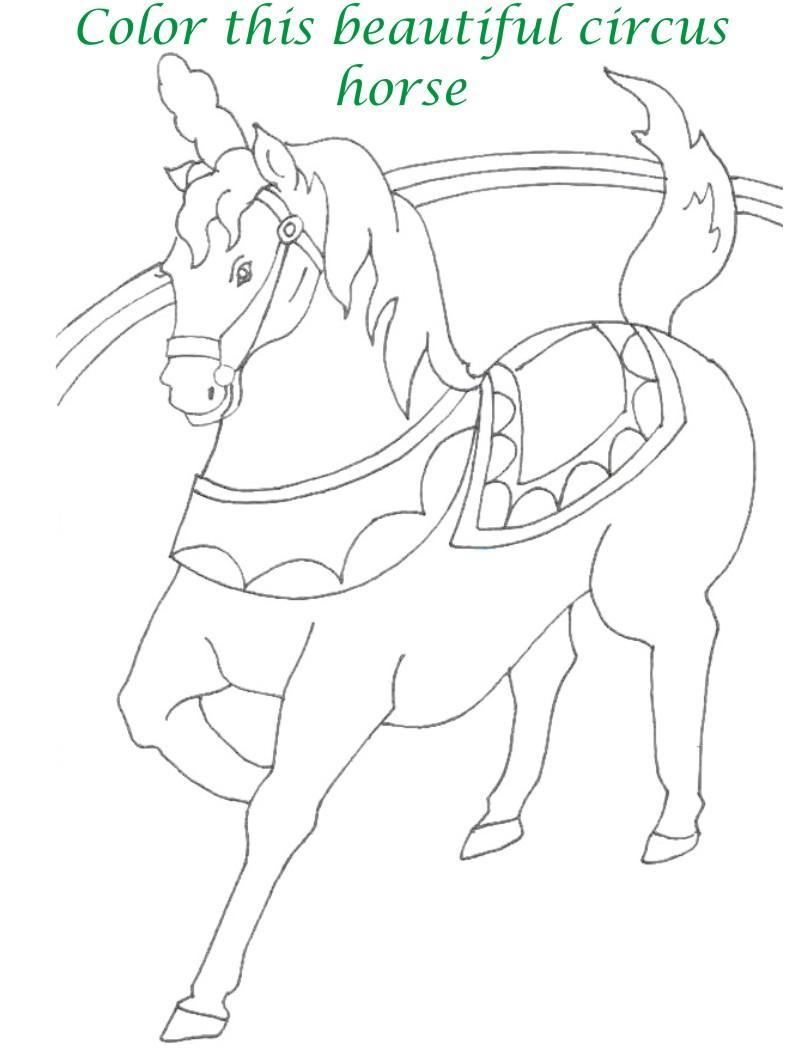 Circus printable coloring page for kids 19