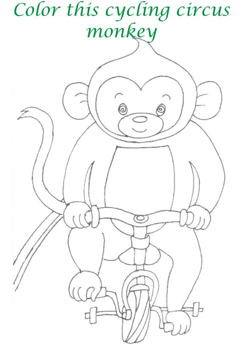 circus printable coloring page for kids 3
