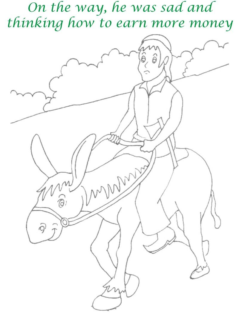 Alibaba story printable coloring page for kids 3
