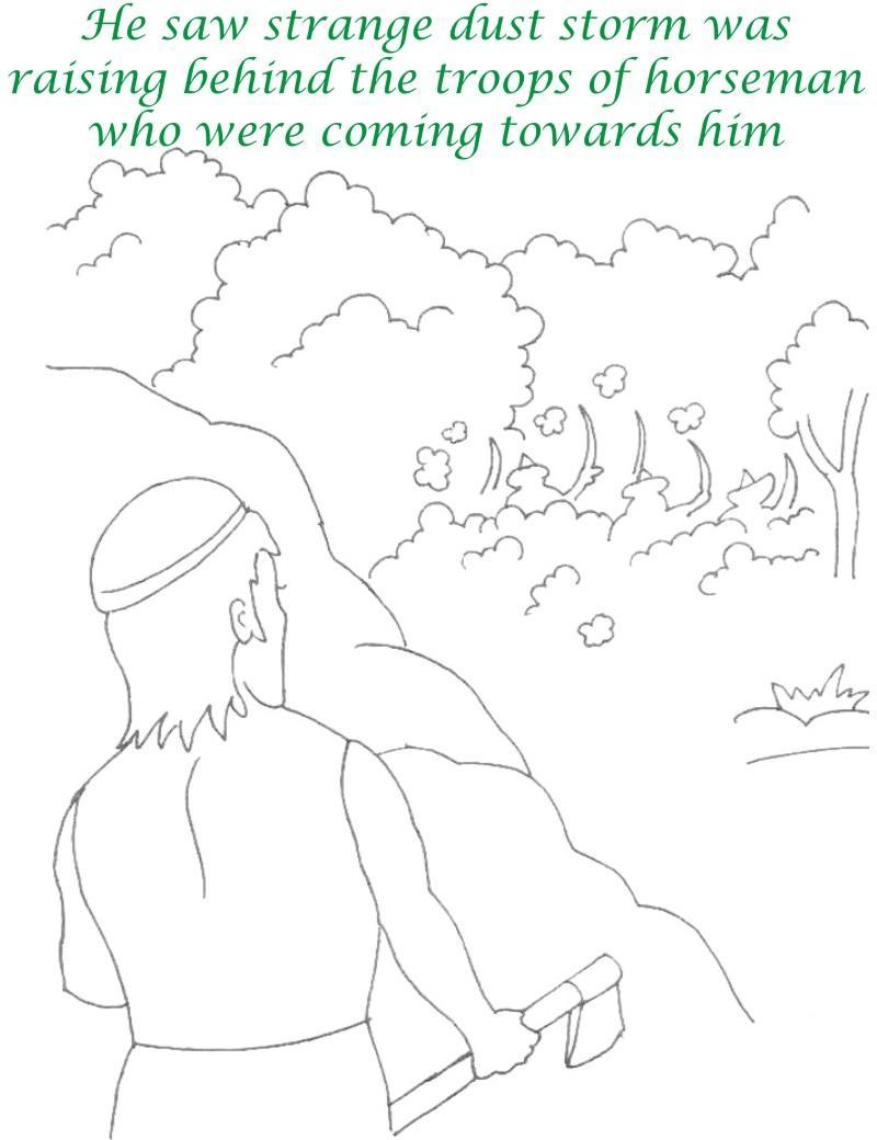 Alibaba story printable coloring page for kids 9