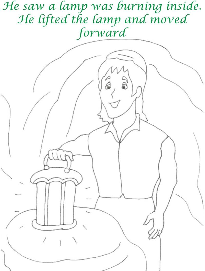 Alibaba story printable coloring page for kids 19