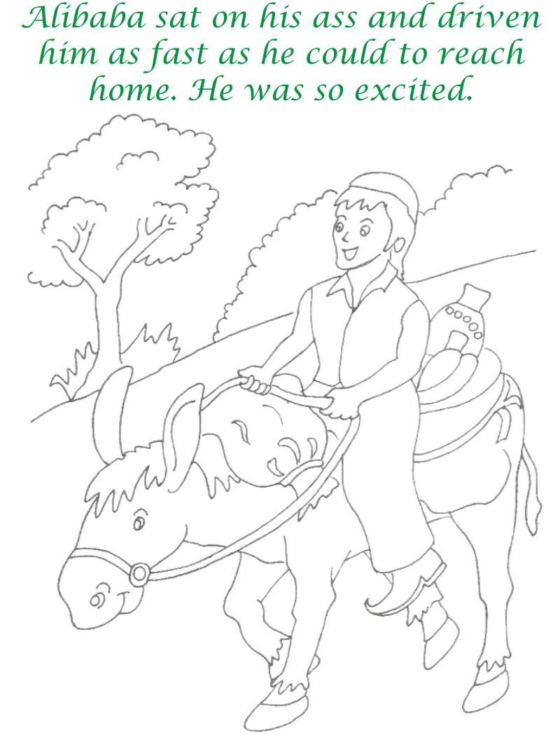 Alibaba story printable coloring page for kids 24