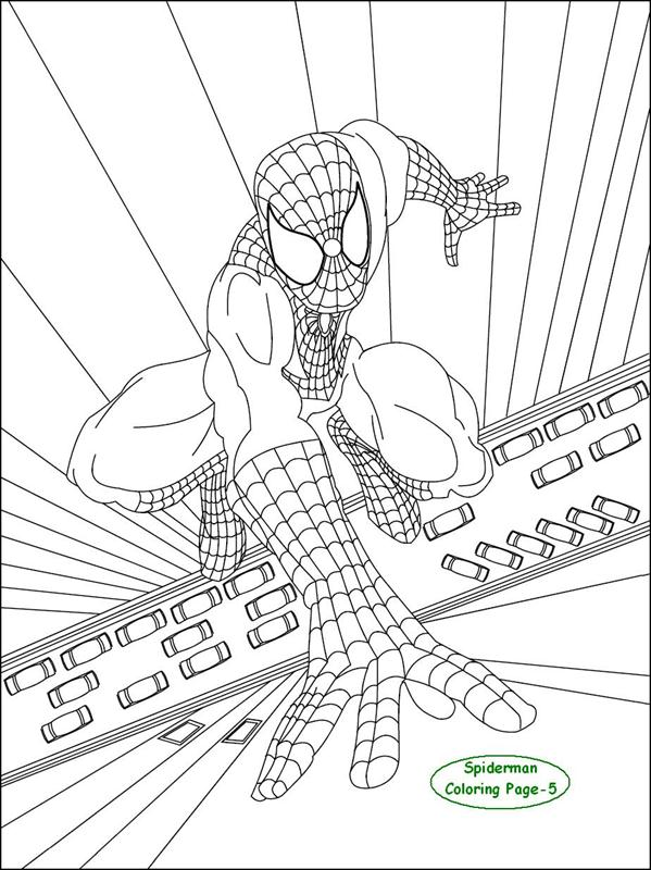 Spiderman coloring page for kids 5: Spiderman coloring pages for kids