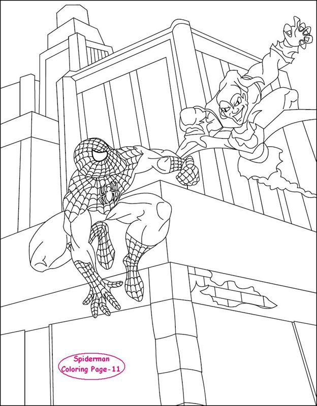 spiderman coloring page for kids 11 - Spiderman Coloring Pages Kids