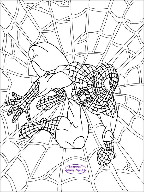 coloring pages spider man - spiderman coloring