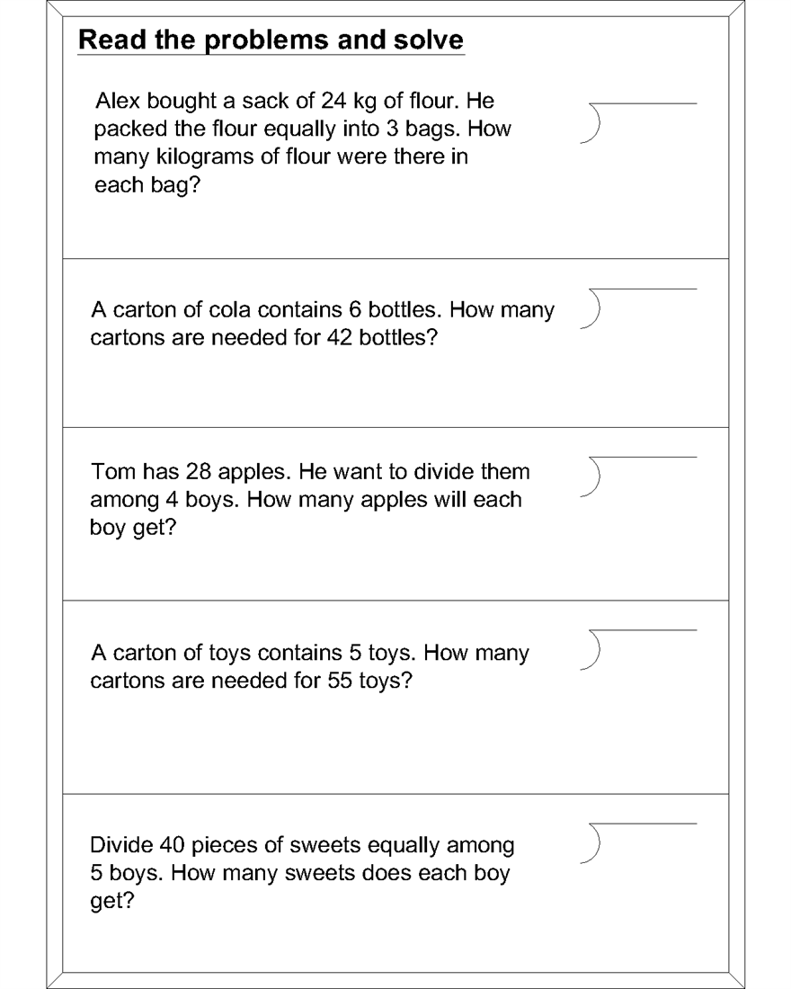 Worksheet Word Problems Division Wosenly Free Worksheet – Division Problem Solving Worksheets