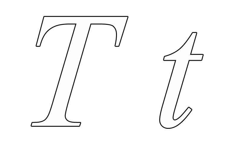 letter t coloring pages printable - photo#33