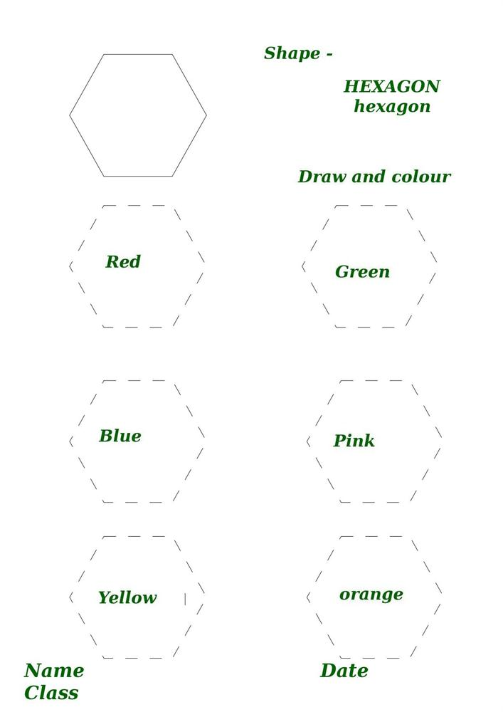 Printables Hexagon Worksheets shape activity worksheet hexagon