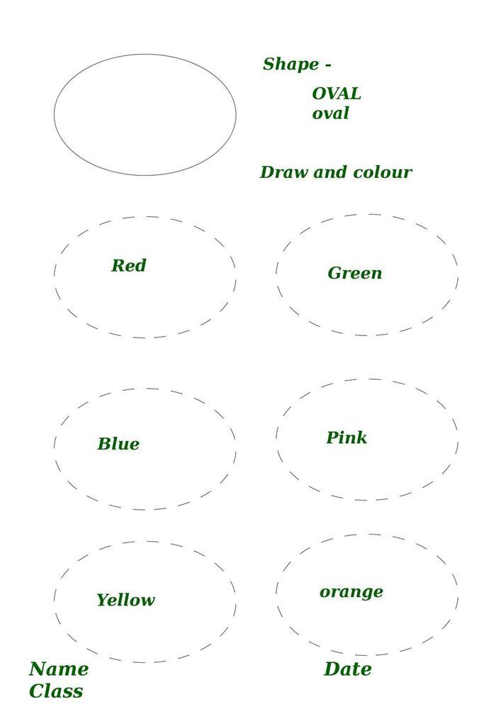 oval shape preschool worksheets oval shape worksheets for preschoolers ...