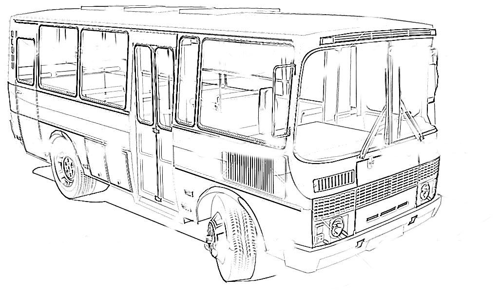'Types Of Motor Vehicles' Printable Coloring Pages For Kids8
