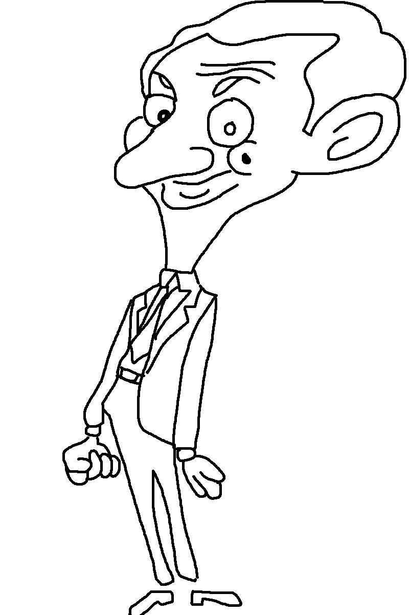 Mr Bean Printable Coloring Pages For Kids12 Mr Bean Coloring Pages