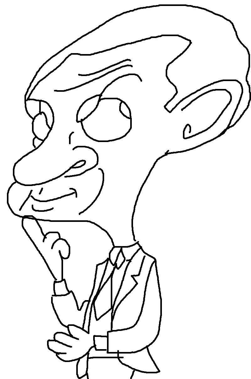 Coloring Pages Mr Bean Car : Mrbean photos free colouring pages