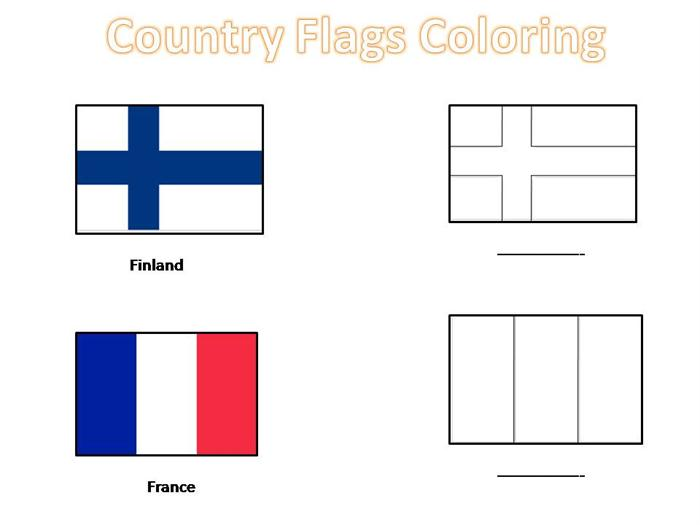 Country Flags Coloring Pages For Kids World Flags Coloring Pages