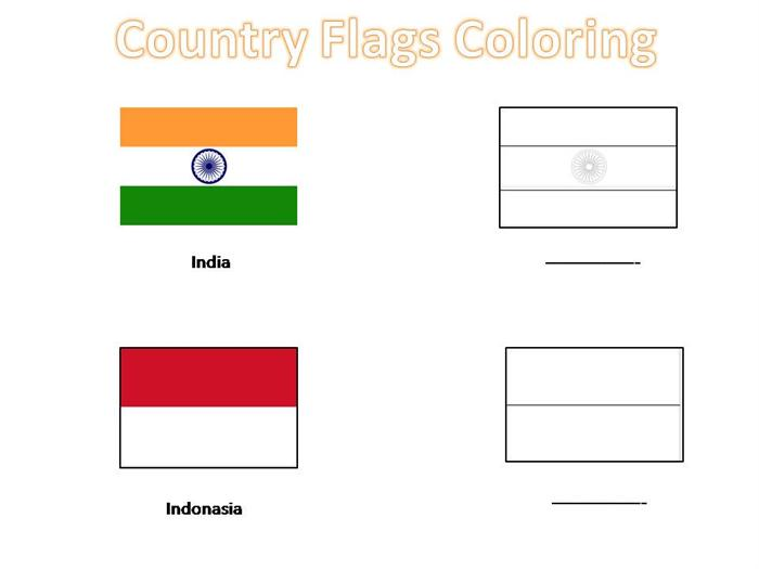 Country flags coloring pages for kids publicscrutiny Image collections
