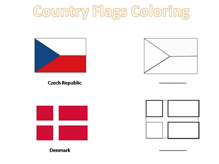world countries flags coloring pages - photo#13