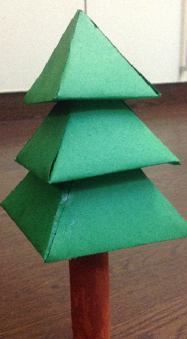 3d paper christmas tree assembling