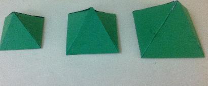 3d paper christmas tree pyramids