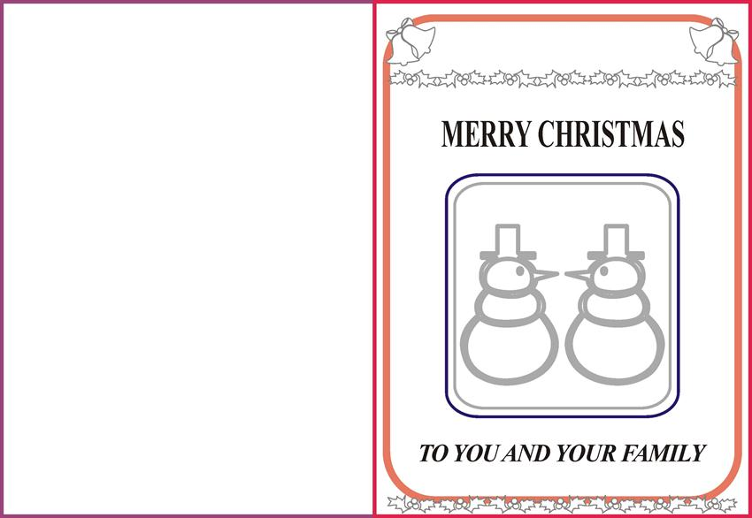 christmas coloring pages and greetings cards snowman