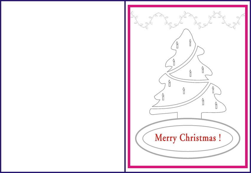 christmas tree coloring pages and greeting cards