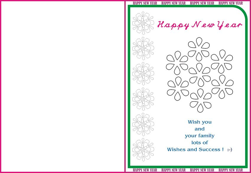 New year greetings card for kids 16 m4hsunfo