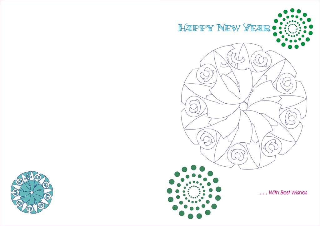 New Year Greetings card for kids - 24