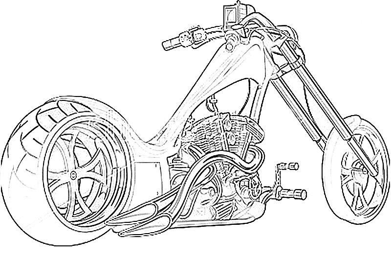 Motorcycle Coloring Pages Pdf : Motor bikes printable coloring pages for kids