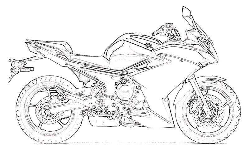 Раскраски для мальчиков мотоциклы распечатать - 10